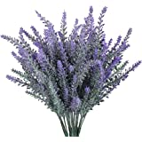 Gtidea 4pcs Artificial Fake Flocked Lavender Bouquet in Purple DIY Bridle Flowers Arrangements Home Kitchen Garden Office Wedding Decor Floral