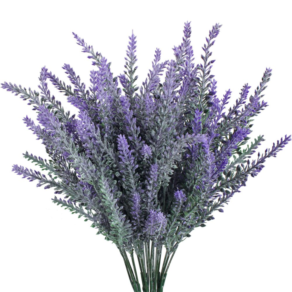 Shop amazon artificial flowers gtidea 4pcs artificial fake flocked lavender bouquet in purple diy bridle flowers arrangements home kitchen garden office wedding decor floral dhlflorist Gallery