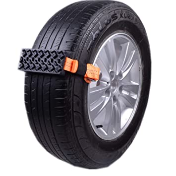 Cadena Nieve, 2pcs Anti-dérapage Snow SUV neumático Cadenas de Emergencia Antideslizantes y Regulables