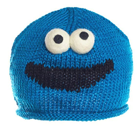 Knitwits Toddlers  Cookie Monster Lightweight Knit Wool Beanie at ... 8d875fa52d5