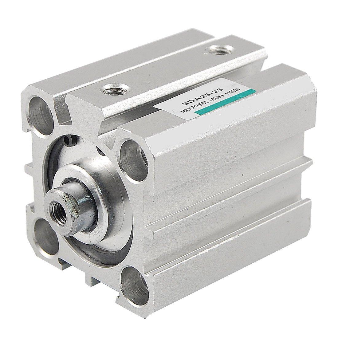 Sourcingmap a12030500ux0065 - Diametro 25 millimetri 25 millimetri sda compatto corsa del cilindro pneumatico dell'aria