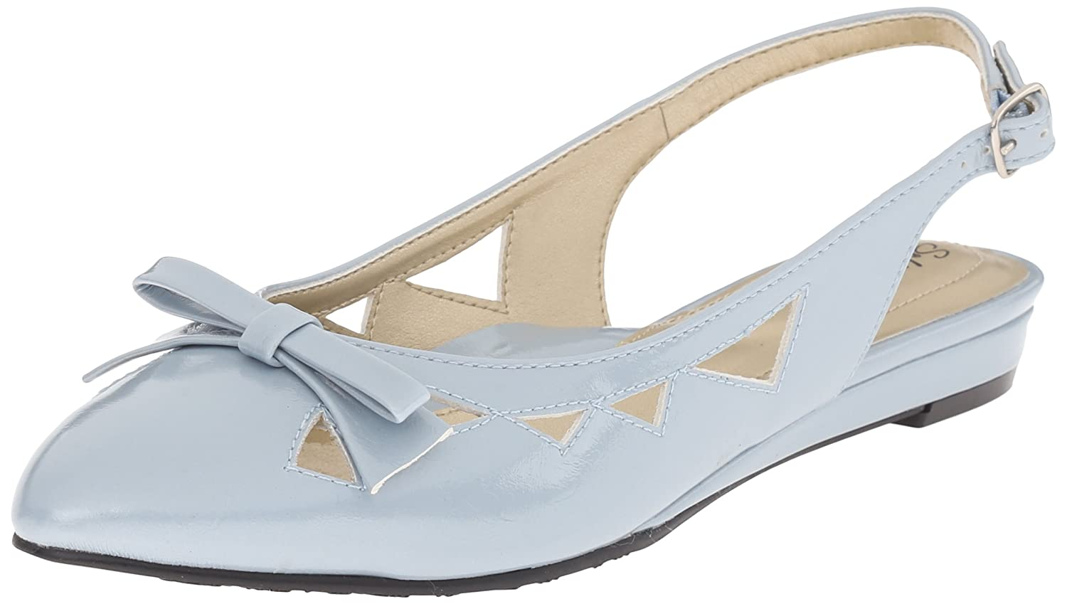 Soft Style by Hush Puppies Women's Deni Flat B010RSEYKG 9 N US|Blue Fog/Pearlized Patent