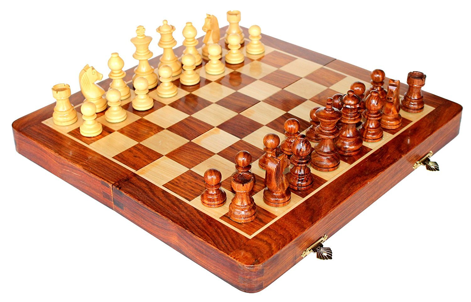 Amazon.com: StonKraft Wooden Chess Game Board Set With Magnetic Wood Pieces,  12 X 12 Inch: Home U0026 Kitchen