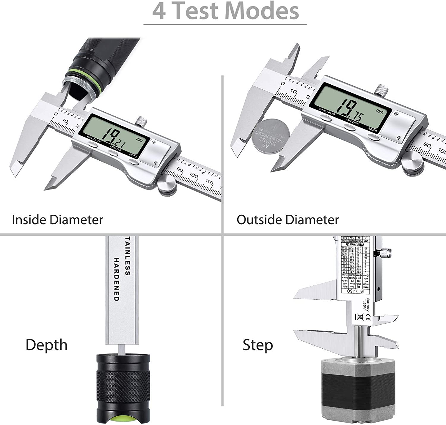 Proster 6 Vernier Caliper Angle Ruler with Height Gauge