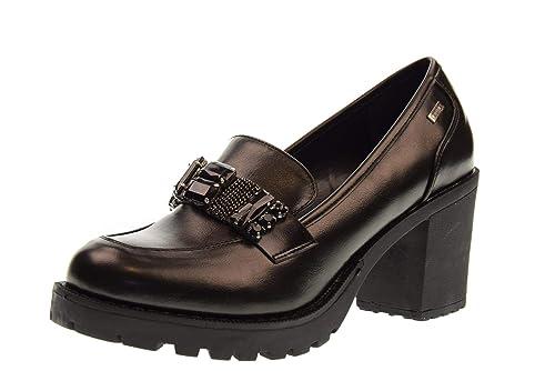 Mustang - Zapatos de Vestir de Cuero para Mujer Negro Negro: Amazon.es: Zapatos y complementos