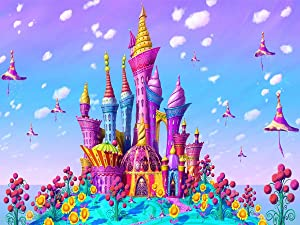 Diamond Painting Kits for Kids,Cartoons Castle Full Drill 5D Diamond Painting Crystal Embroidery Cross Stitch DIY Diamond Painting Kits for Adults Diamond Puzzle Home Wall Decor13.7×17.7Inch