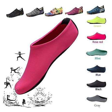 Water Yoga Shoes for Women Barefoot Running Aqua Socks Quick-Dry Mutifunctional Lightweight for Swimming Surfing Beach Walking Garden Boating