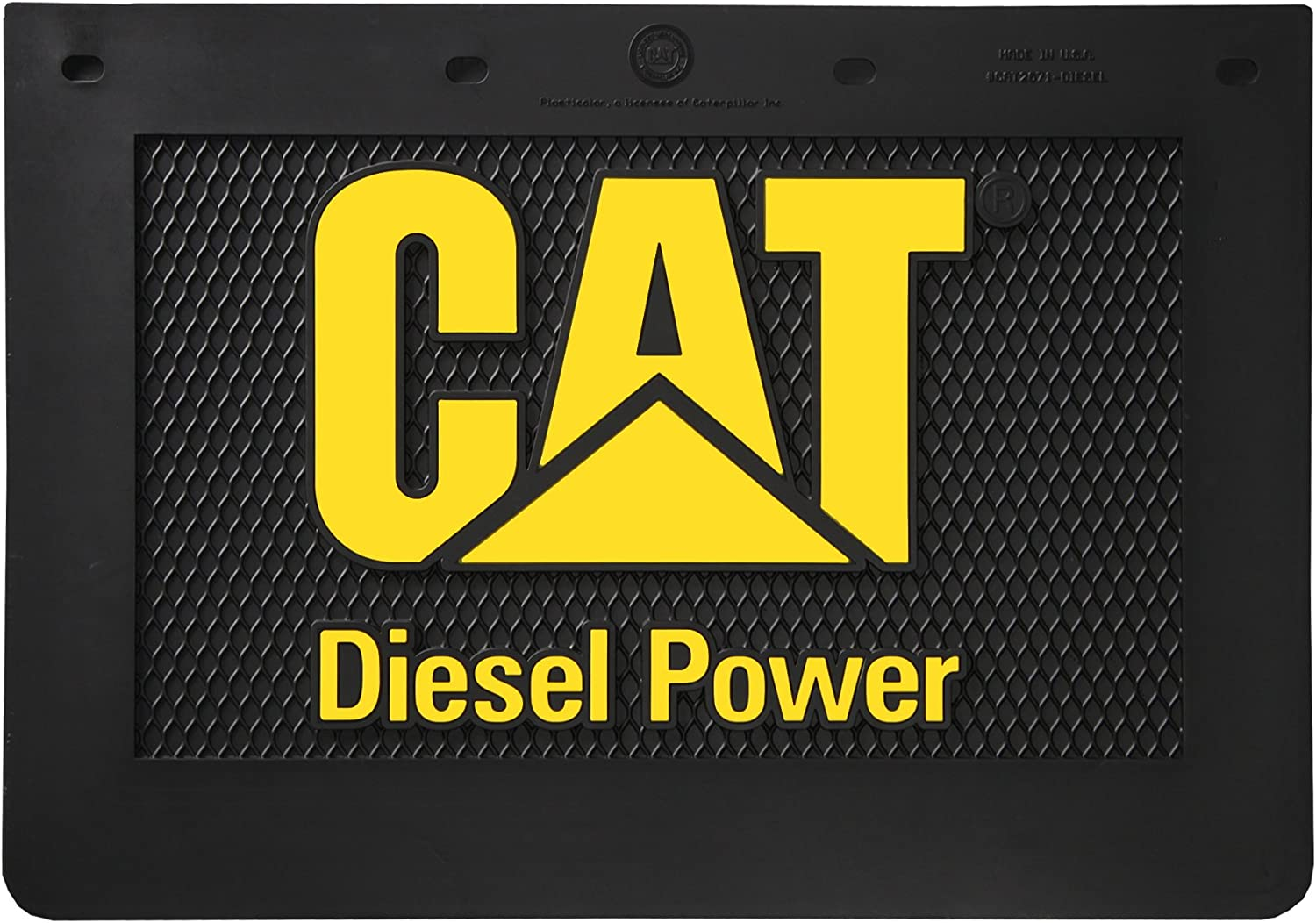 cat caterpillar tractor gray diesel power semi mudflap truck mud flap 24x14
