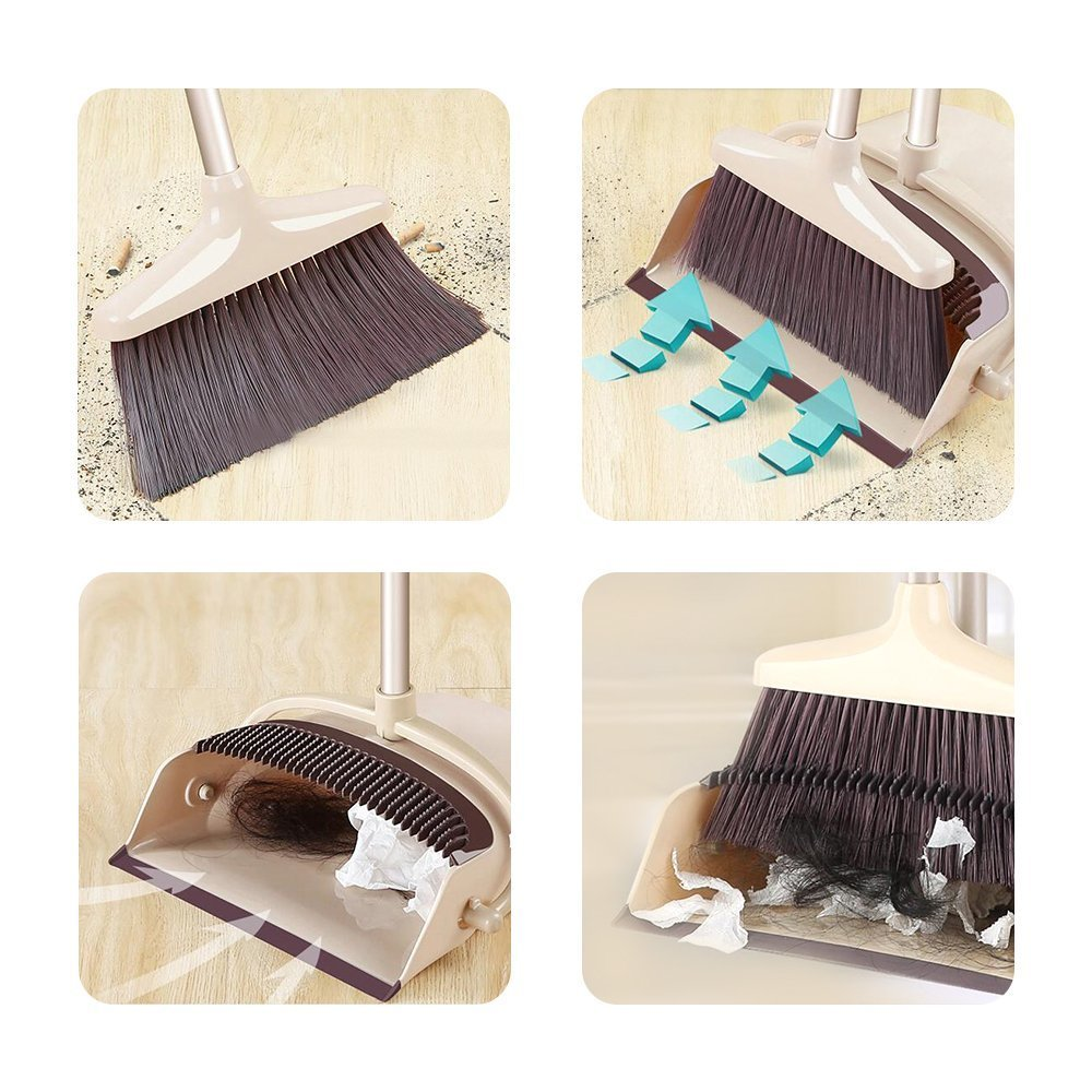 SANGFOR Broom and Dustpan Set Long Handle Dustpan and Lobby Broom Combo Upright Grips Sweep Set with Broom by SANGFOR (Image #5)