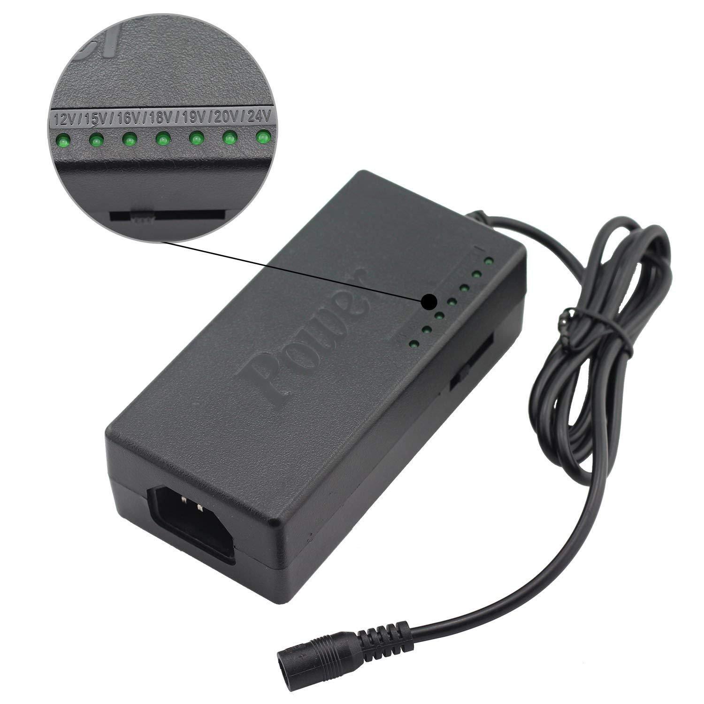Longdex Universal 96W Power Supply Charger 12V/15V/16V/18V/19V/20V/24V for Laptop PC Netbook Charger Adjustable Voltage Power Adapter