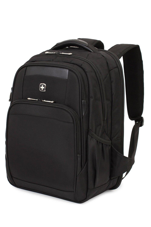 SWISSGEAR 6392 ScanSmart Large Padded Laptop TSA Friendly Backpack - Black on Black by Swiss Gear