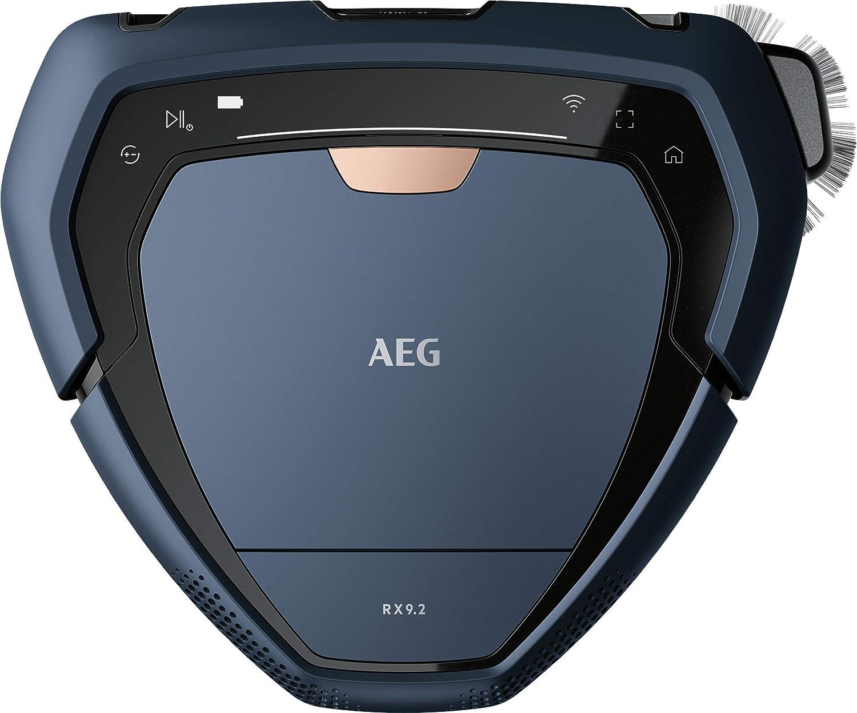 AEG RX9-2-6IBM Robot Aspiradora Visión 3D, Batería hasta 120min Cepillo Motorizado Ancho de 22cm, Carga Rápida, Gran Filtración, Escala 2, 2cm, 75dB, Display LED, WiFi, APP, Depósito de 0.7L, Azul: Amazon.es: Hogar