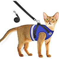AVCCAVA Cat Harness and Leash for Walking, Escape Proof Soft and Breathable Adjustable Vest Harness for Cats…