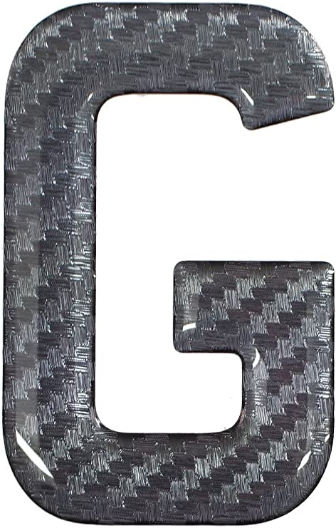Resina 3D//gel con cupola autoadesive targa lettera a