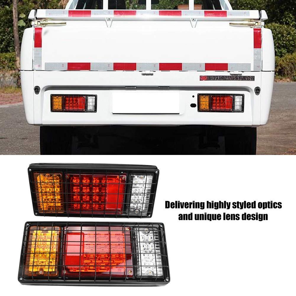 luces de posici/ón traseras de LED 2 unidades luces de marcha atr/ás de 40 LED para el barco del cami/ón de remolque. Faro trasero del remolque 12 V