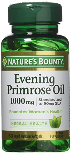 Nature s Bounty Evening Primrose Oil, 1000mg, 180 Softgels 3 X 60 Count Bottles