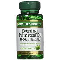 Nature's Bounty Evening Primrose Oil, 1000mg, 180 Softgels (3 X 60 Count Bottles)