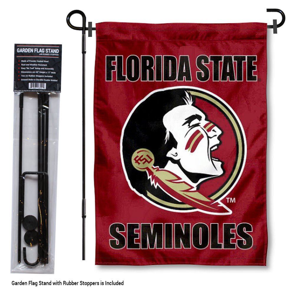 Florida State Seminoles Garden Flag with Stand Holder