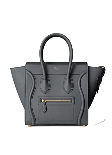 990a46464ddd Amazon.com  celine medium luggage phanton bag in baby grained calfskin  (gray)  Shoes