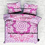 "Exclusive King Doona Cover By ""Handicraftspalace"" Indian Donna Cover Set Boho Duvet Cover Bohemian Bedspread Bedding Set Ombre Mandala Duvet Cover With Pillowcases"