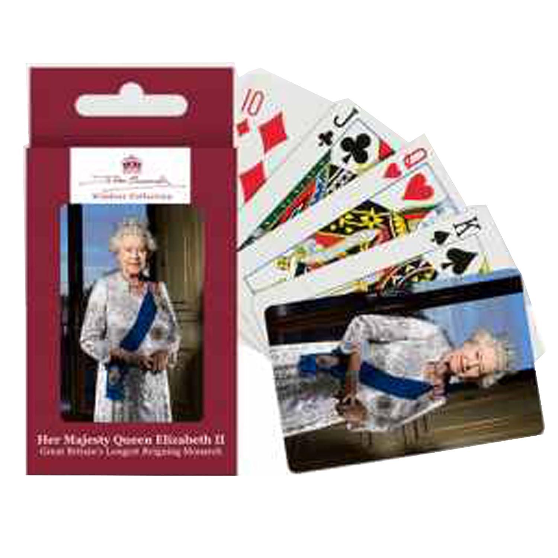 Reine Elizabeth II cartes à jouer Elgate