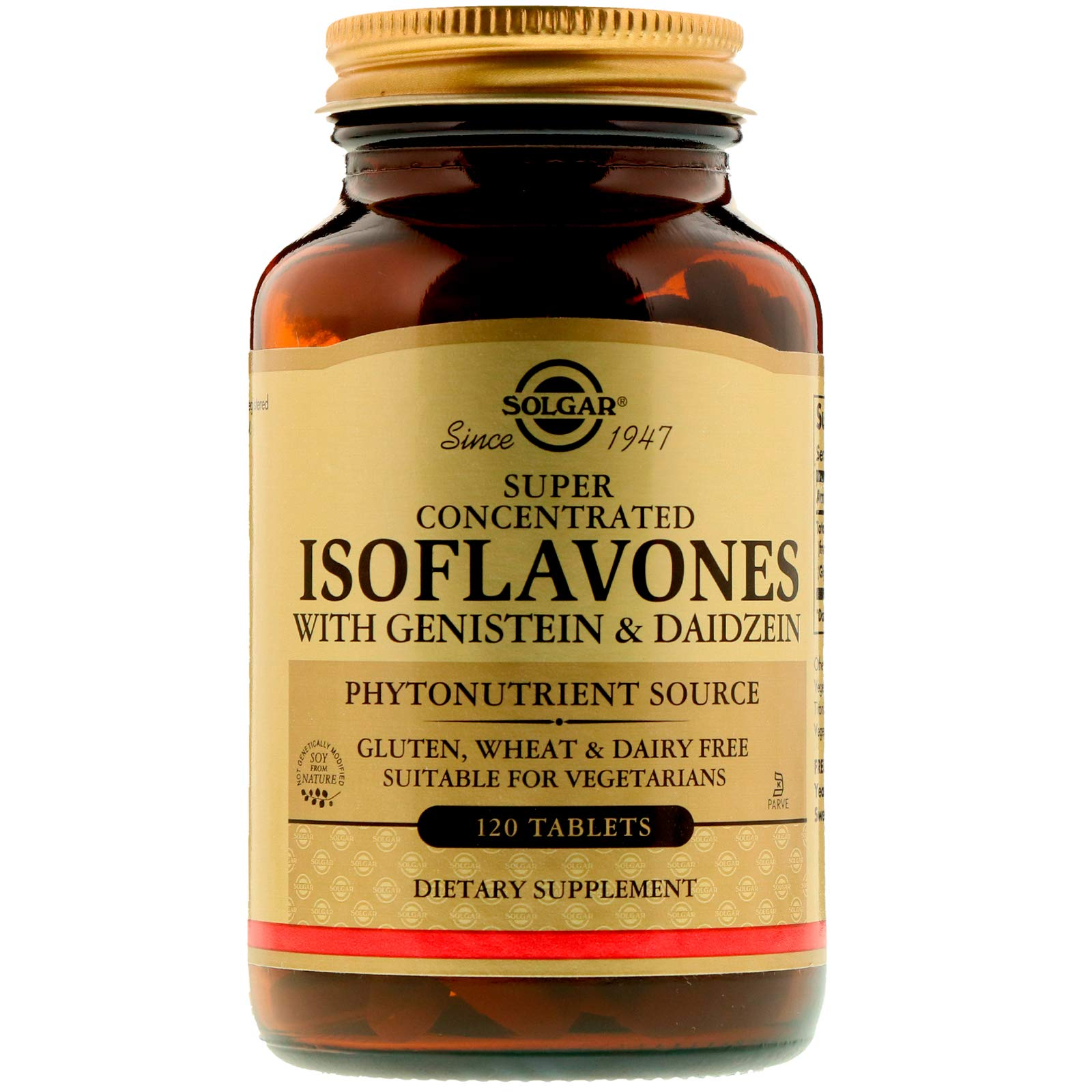 Solgar - Non-GMO Super Concentrated Isoflavones, 120 Tablets