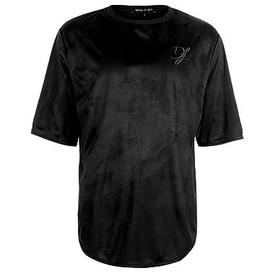ed0bd9abfeba99 Dead Legacy Herren Samt T Shirt Kurzarm Rundhals Loose Fit Schwarz S ...