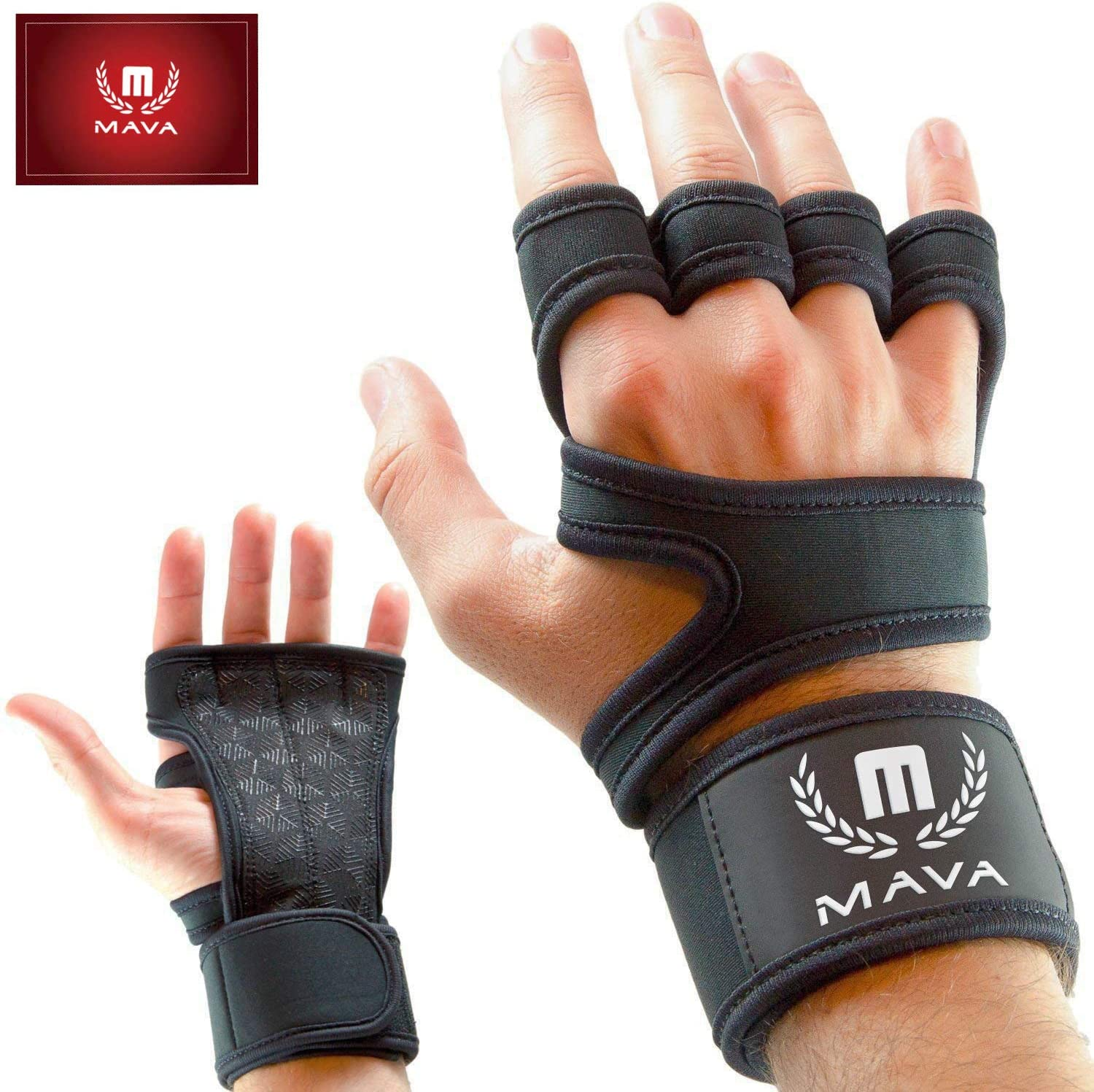 Mava Sports Cross Training Gloves with Wrist Support for Fitness, WOD, Weightlifting, Gym Workout & Powerlifting - Silicone Padding, no Calluses - Men & Women, Strong Grip : Sports & Outdoors