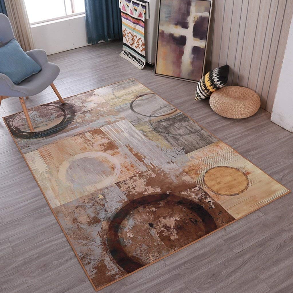 NBE Retro Style abstrakte Kunst Teppich Wohnzimmer Couchtisch Sofa Matten (Größe: 180 & Zeiten; 280 cm)