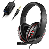 JAMSWALL Stereo Gaming Headset for Xbox one PS4-3.5mm Wired Over-head Stereo Gaming Headset Headphone with Mic Microphone, Volume Control for PS4 PC Tablet Laptop Smartphone Xbox One (BLACK)