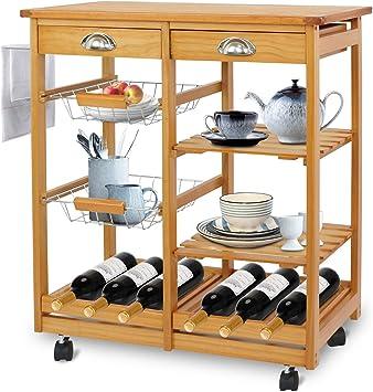 Amazon.com: Super Deal Rolling Cocina cesta de la compra ...