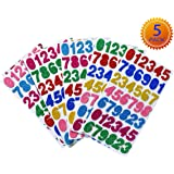 Glitter Foam Stickers Number Letter Stickers Large Self-Adhesive Planner Stickers Laptop Stickers Cardstock Stickers Easy Peel-Off Stickers for DIY Arts and Crafts,Daily Planner,5 Sheets (Number)