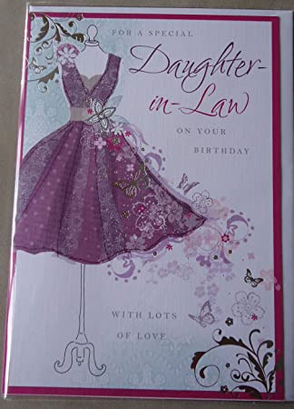 For a special daughter in law happy birthday greeting card with a for a special daughter in law happy birthday greeting card with a lovely verse amazon kitchen home bookmarktalkfo Images