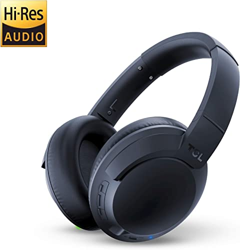 TCL ELIT400NC Wireless On-Ear Headphones Hi-Res Noise Cancelling Bluetooth Headphones with 22 Hour Playtime and Fast Charge Midnight Blue