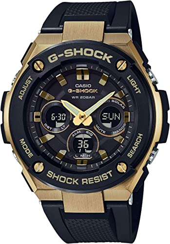 Casio G-Shock Mens GST-S300G-1A9 Black/Gold One Size