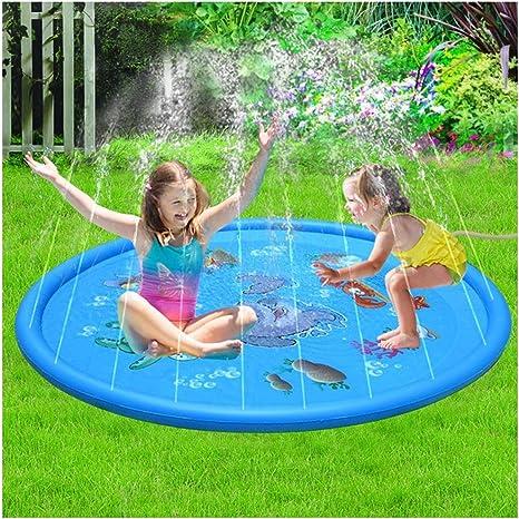 FXQ Aspersor para niños Juego,170 cm acuático Splash Rocíe y coloque tapete Jardín de Verano Agua Exterior en Aerosol Agua para niños. Actividades Familiares Niños.: Amazon.es: Deportes y aire libre
