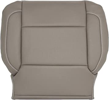 2009 2010 Ford Expedition PASSENGER Bottom Gray Perforated Leather Seat Cover