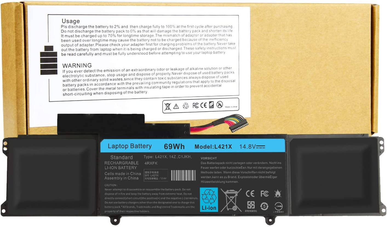 FFK56 Laptop Battery for Dell Ultrabook XPS 14 Ultrabook XPS L421 L142x 14-L421x XPS 14 L421X Series Laptop 4RXFK C1JKH