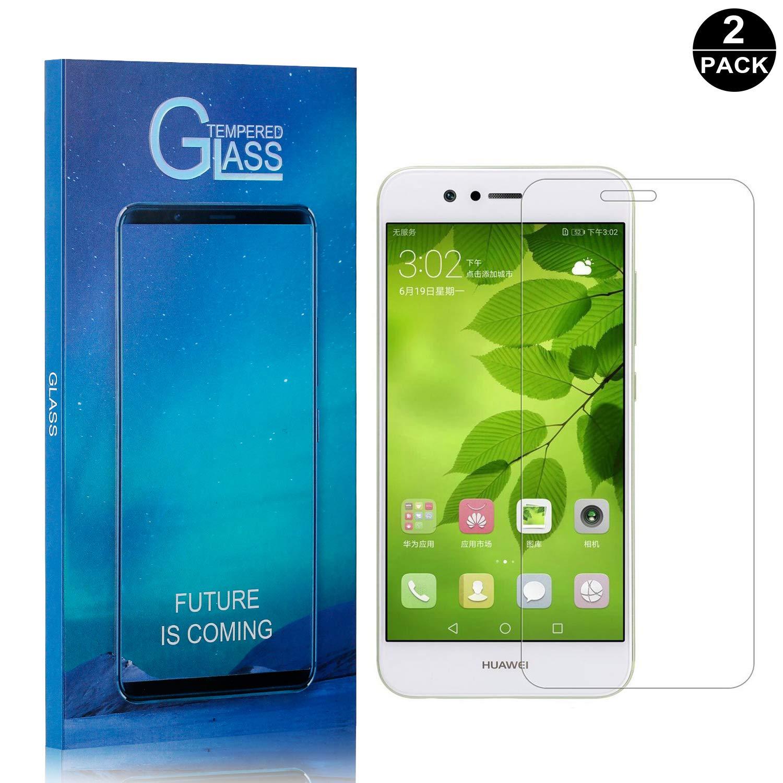 Anti-Fingerprint Tempered Glass Screen Protector Film for Huawei Nova 2 2 Pack UNEXTATI Premium HD Anti Scratch Huawei Nova 2 Screen Protector