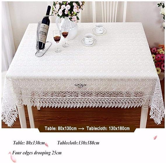 SONGHJ Orgullosa Rosa Blanca de Encaje de Mesa de Tela decoración ...