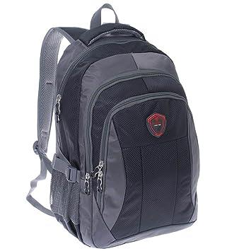 5688130d2ea94 City Rucksack Schule Arbeit   Freizeit Bag Schulrucksack Sportrucksack  Backpack Laptoprucksack Laptopfach 17 quot  - schwarz