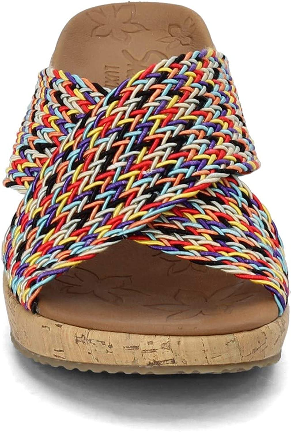 Skechers Beverlee-vacation Mode, Sandali Con Tacco A Cuneo. Donna Vero Multi