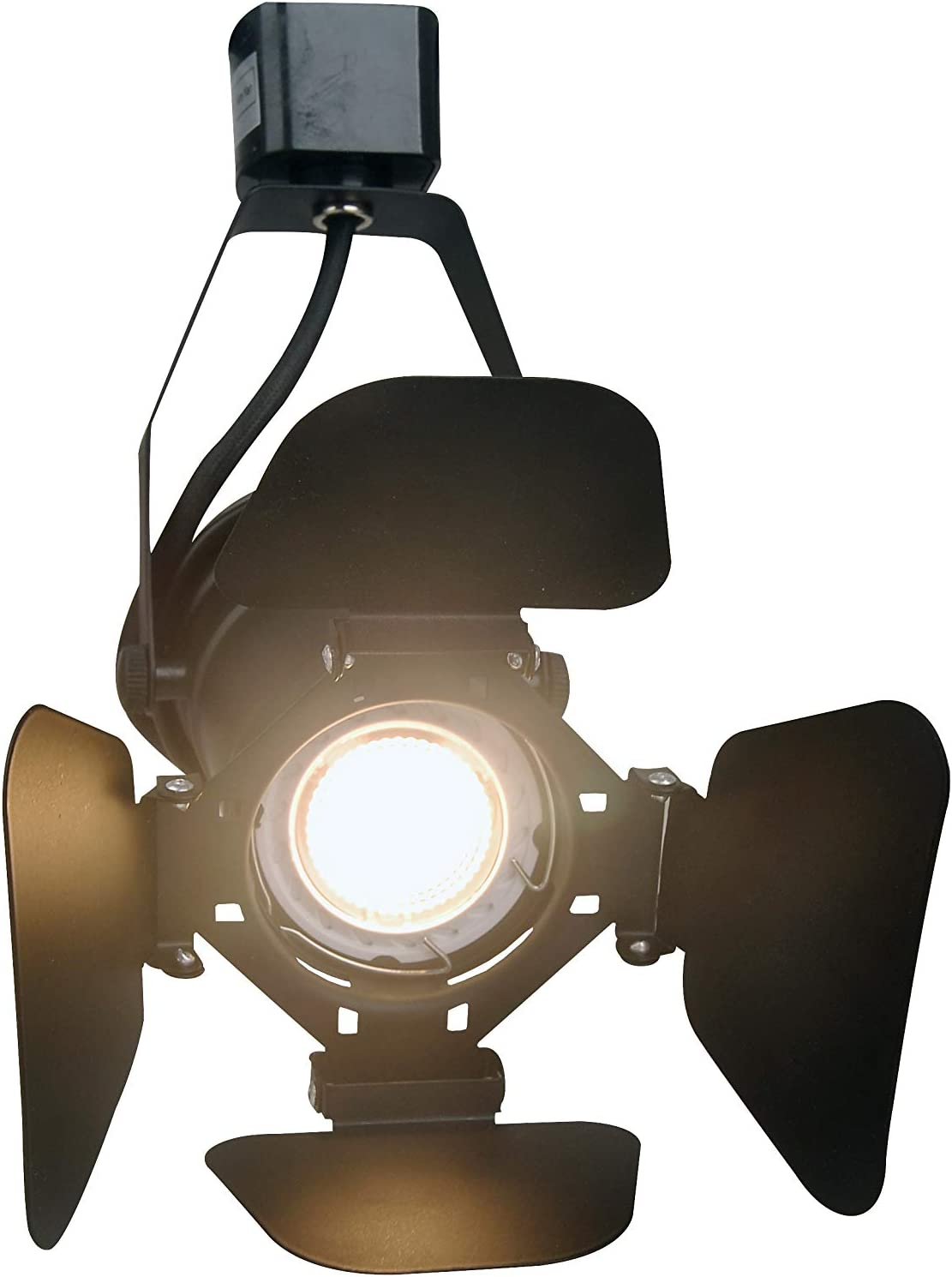 KimYan LED Track Lighting Heads for Home Theater or Industrial Decor Compatible H Type System 2Pack