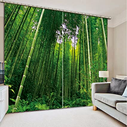 Amazon Com Sproud Modern Curtains Bamboo Photo 3d Curtains For