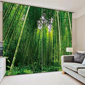 Sproud Moderne Gardinen Bambus Foto 3D-Vorhänge für ...