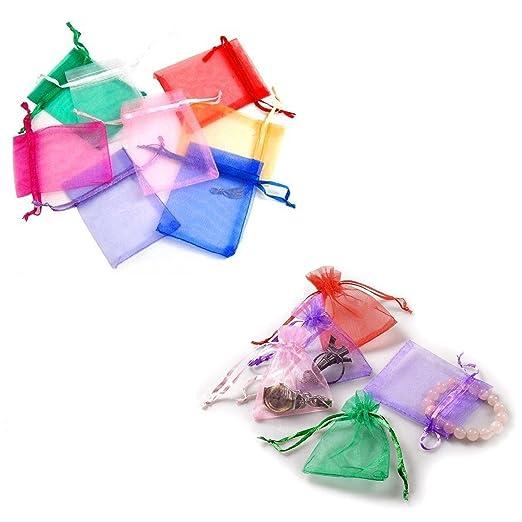 92 opinioni per JZK® 100 x Colorati sacchetti sacchettini riso portariso portaconfetti