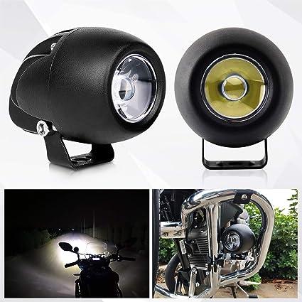 Faro LED moto faro luz auxiliar para moto y coche luz de trabajo ...