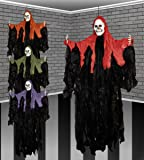 46 Inch Halloween Hooded Gothic Ghost Skeleton Hanging Party Decoration