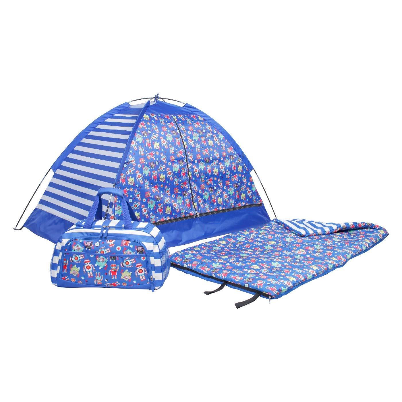 CRCKT Kids' Robot 3pc 50 Degree Sleeping Bag - Blue