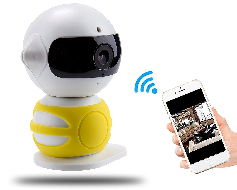 720P 360 Cámara IP Inalámbrica, A-Best Seguridad Cámara de Vigilancia Inicio WiFi, Pan / Tilt con Audio de dos Vías y Movimiento de Visión Nocturna Detectar ...